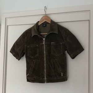 BILLABONG Corduroy Short Sleeve crop Jacket Size10